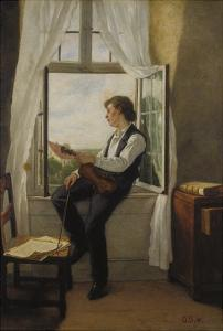 The Violinist at the Window, 1861 by Otto Franz Scholderer