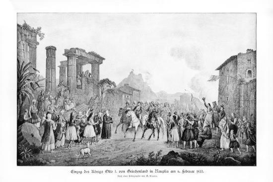 Otto I, King of Greece, Landing in Nauplia, 6 February 1833-G Kraus-Giclee Print