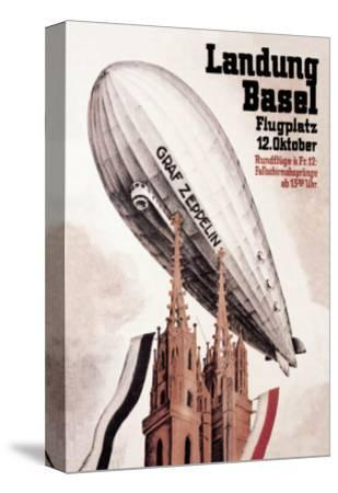 Graf Zeppelin Flies over the Cathedral in Basel Switzerland