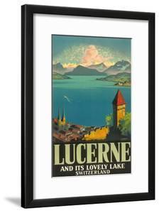Lucerne Lovely Lake by Otto Landolt