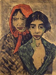 Gypsies, Lithograph by Otto Mueller