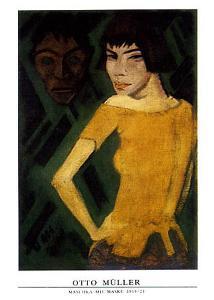 Maschka mit Maske by Otto Mueller