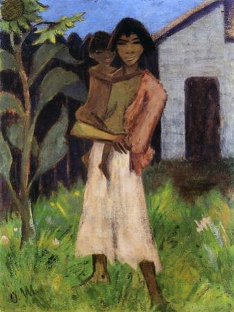 Mother and Child, 1927 by Otto Mueller