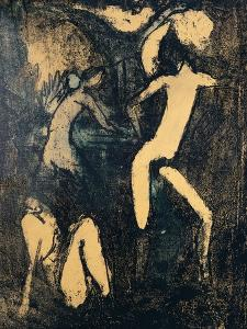 Three Nude Figures, 1910 by Otto Mueller