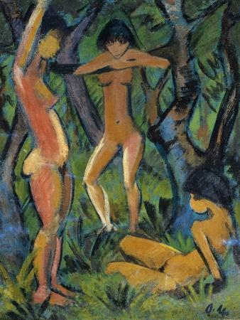 Three Nude Figures in Wood, 1911
