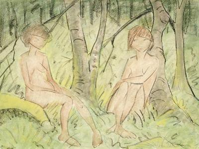 Two Women in the Forest, circa 1925 by Otto Mueller