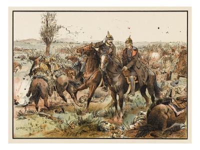 Otto Von Bismarck (1815 - 1898) Bismarck at the Battle of Koniggratz--Giclee Print