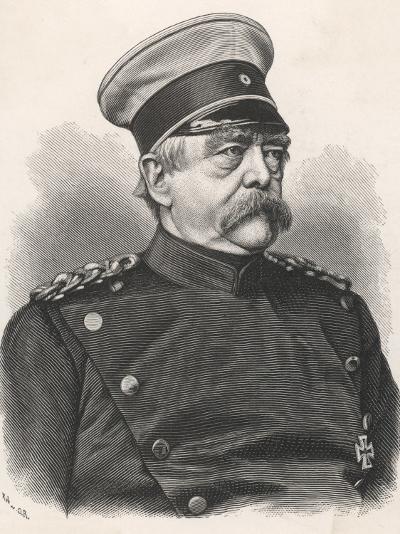 Otto Von Bismarck German Statesman, in 1885 Wearing Uniform--Photographic Print