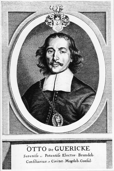 Otto Von Guericke, German Inventor, Engineer and Physicist, 1672--Giclee Print
