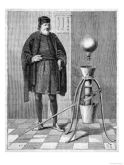Otto Von Guericke's Pneumatic Pump--Giclee Print