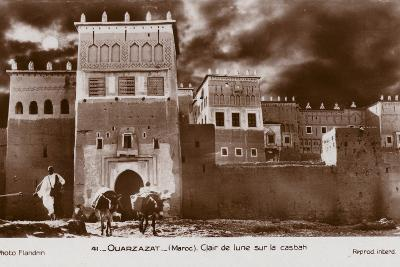 Ouarzazate - Morocco - Moonlight on the Kasbah--Photographic Print
