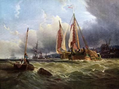 Oude Schelde, Texel Island, 1862-Clarkson Stanfield-Giclee Print