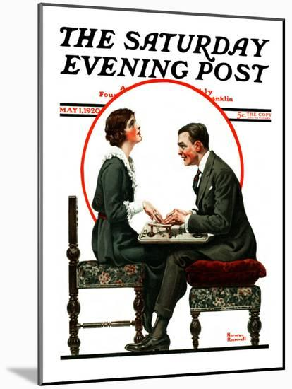 """""""Ouija Board"""" Saturday Evening Post Cover, May 1,1920-Norman Rockwell-Mounted Giclee Print"""