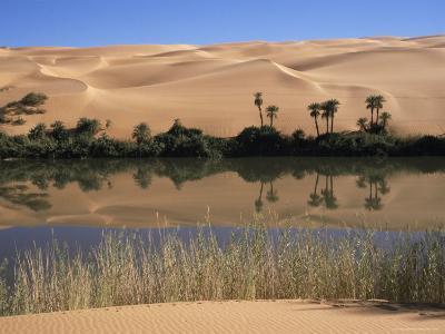 Oum El Ma Lake, Mandara Valley, Southwest Desert, Libya, North Africa, Africa-Nico Tondini-Photographic Print