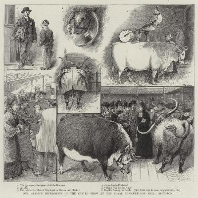 Our Artist's Impressions of the Cattle Show at the Royal Agricultural Hall, Islington-William Ralston-Giclee Print