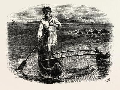Our Boatman at Tahiti, French Polynesia, Southern Pacific Ocean--Giclee Print