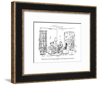 """Our dream is to live long enough to see the end of our renovation."" - New Yorker Cartoon-David Sipress-Framed Premium Giclee Print"