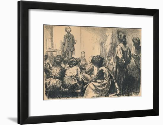 'Our Evening Art Classes Have Commenced', 1905-Frederick Henry Townsend-Framed Giclee Print