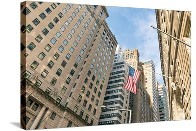 Our Flag Over Wall St.--Stretched Canvas Print