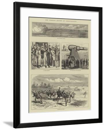 Our Foreign Critics at Shoeburyness-Godefroy Durand-Framed Giclee Print