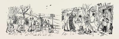 Our Great Football Match, Pelicans Versus Phantoms: Vanquished (Left), Victors (Right)--Giclee Print
