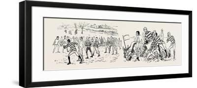 Our Great Football Match--Framed Giclee Print