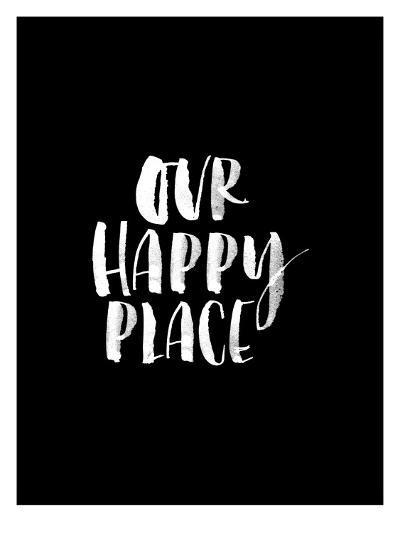 Our Happy Place BLK-Brett Wilson-Art Print