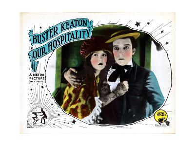Our Hospitality, from Left: Natalie Talmadge, Buster Keaton, 1923--Giclee Print