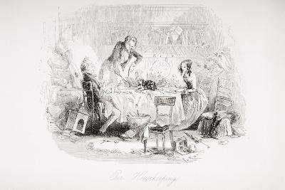 Our Housekeeping, Illustration from 'David Copperfield' by Charles Dickens (1812-70) First?-Hablot Knight Browne-Giclee Print