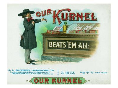 Our Kurnel Brand Cigar Box Label-Lantern Press-Art Print