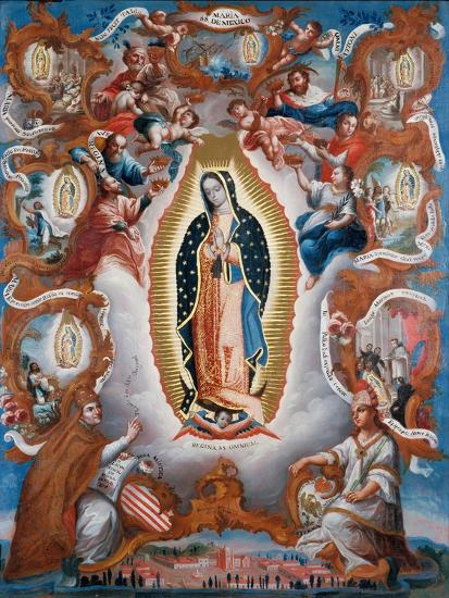 Our Lady of Guadalupe, 1779-Sebastián Salcedo-Giclee Print