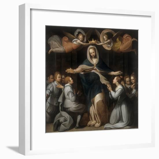 Our Lady of Mercy with the Orphans-Benedetto Marini-Framed Art Print