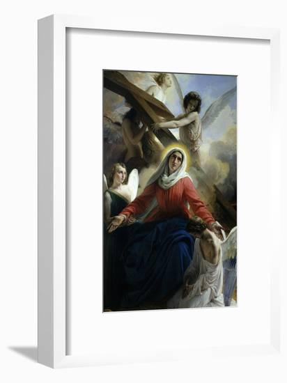 Our Lady of Sorrows 1842 Virgin Mary Mourning Death of Christ with Angels-Francesco Hayez-Framed Giclee Print
