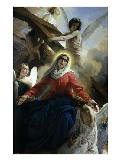 Our Lady of Sorrows 1842 Virgin Mary Mourning Death of Christ with Angels-Francesco Hayez-Giclee Print