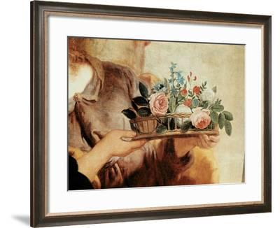 Our Lady of the Rosary, Detail of the Basket of Flowers-Gaspard de Crayer-Framed Giclee Print