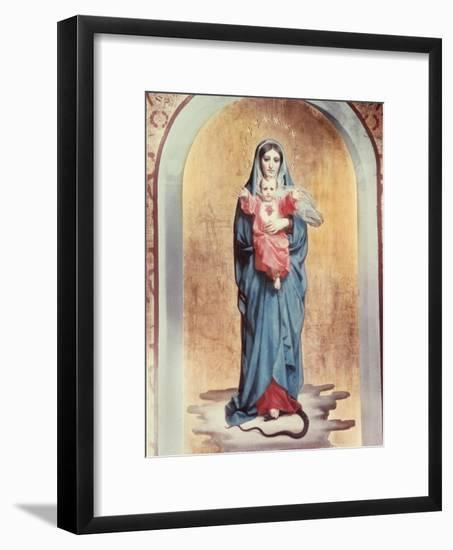 Our Lady of the Sacred Heart-Antonio Ciseri-Framed Giclee Print
