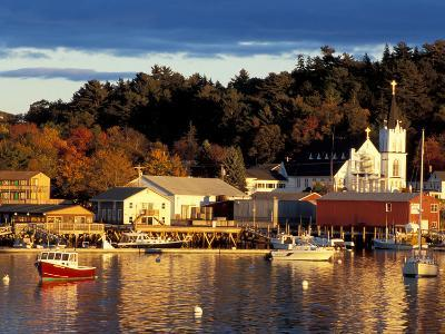 Our Lady Queen of Peace Catholic Church, Boothbay Harbor, Maine, USA-Jerry & Marcy Monkman-Photographic Print