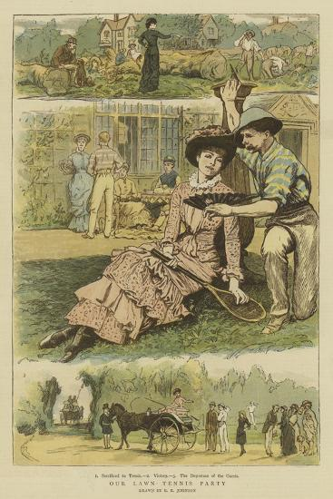 Our Lawn Tennis Party-Edward Killingworth Johnson-Giclee Print