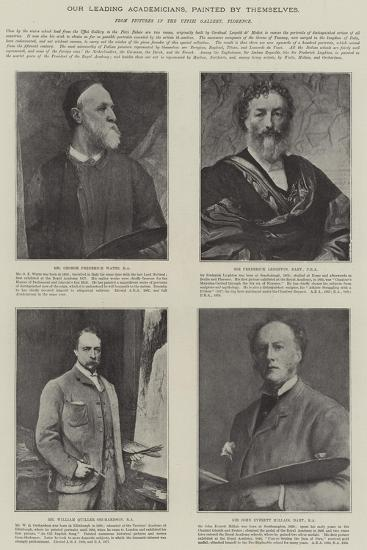 Our Leading Academicians, Painted by Themselves--Giclee Print