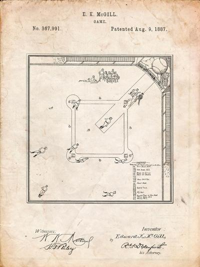 Our National Ball Game Patent-Cole Borders-Art Print