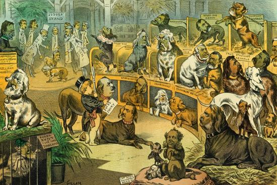 Our National Dog-Show, 1883-Bernard Gillam-Giclee Print