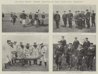 Our Naval Brigade, Gunnery Instruction on Whale Island (HMS Excellent)--Giclee Print