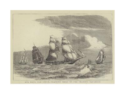 Our Navy, Old Style, Training Brigs of the Channel Squadron-William Edward Atkins-Giclee Print