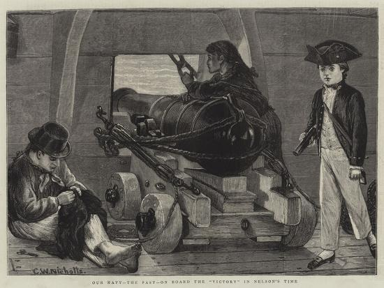 Our Navy, the Past, on Board the Victory in Nelson's Time-Charles Wynne Nicholls-Giclee Print