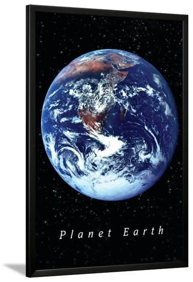 Our Planet Earth--Lamina Framed Poster