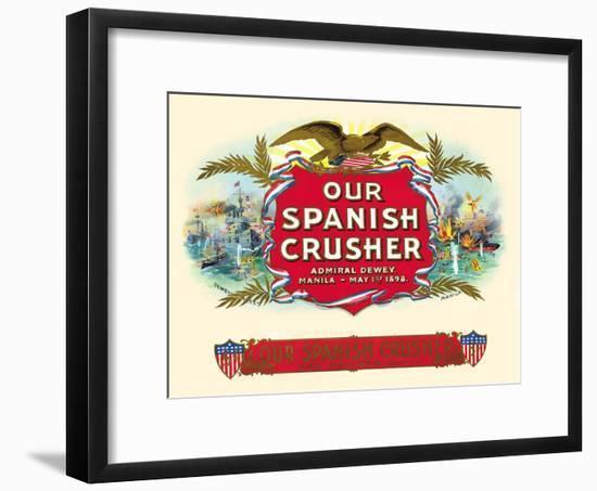 Our Spanish Crusher- Witsch & Schmitt Lihto.-Framed Art Print