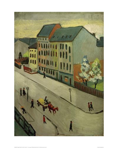 Our Street in Grey, 1911-Auguste Macke-Giclee Print