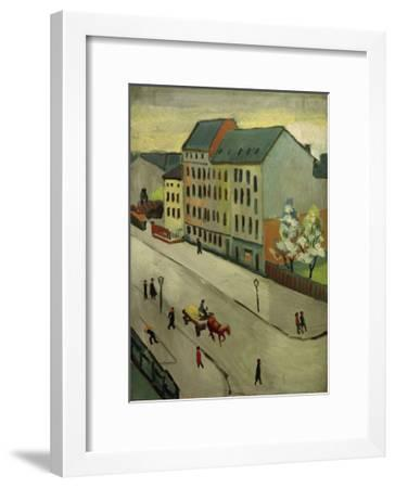 Our Street in Grey, 1911-Auguste Macke-Framed Giclee Print