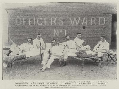 Our Success in the Soudan, Officers Wounded at Omdurman in the English Military Hospital at Abadia--Giclee Print