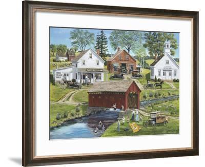 Our Town Beach-Bob Fair-Framed Giclee Print